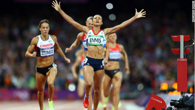 Jackie Joyner-Kersee says Jessica Ennis lived up to the pressure she was under to become an Olympic champion.