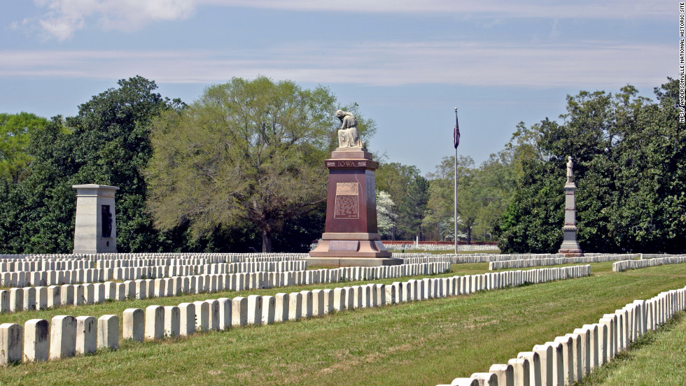 Andersonville is home to Andersonville National Cemetery, where many who died in the nearby prisoner or war camp were buried.