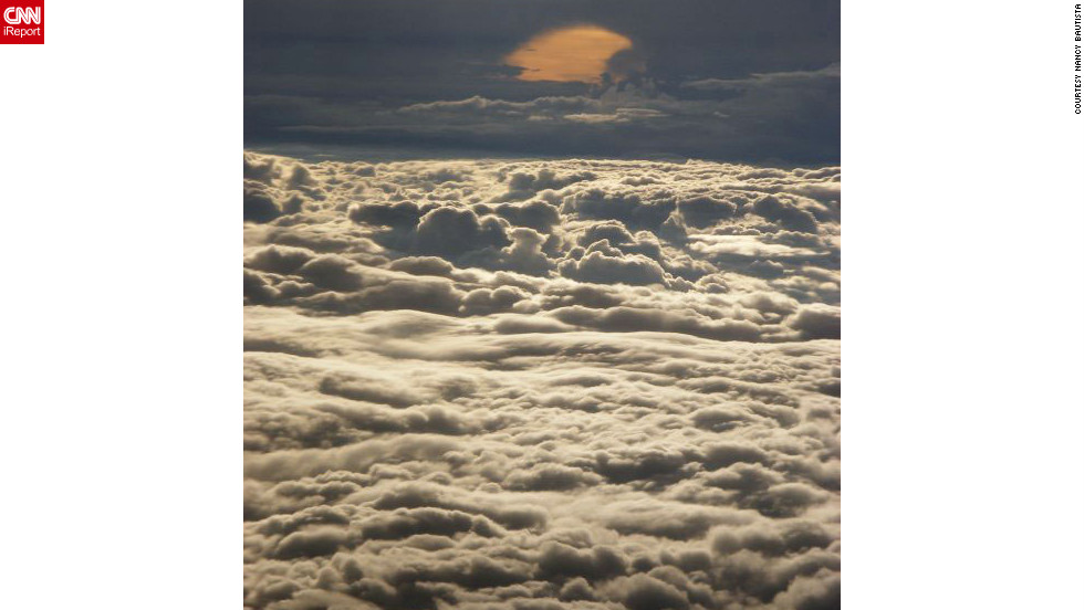 "Nancy Bautista took this serene photo during a flight from Fort Lauderdale, Florida, to California. ""Looking out of a window during a flight influences my mood most definitely. It just relaxes me."""