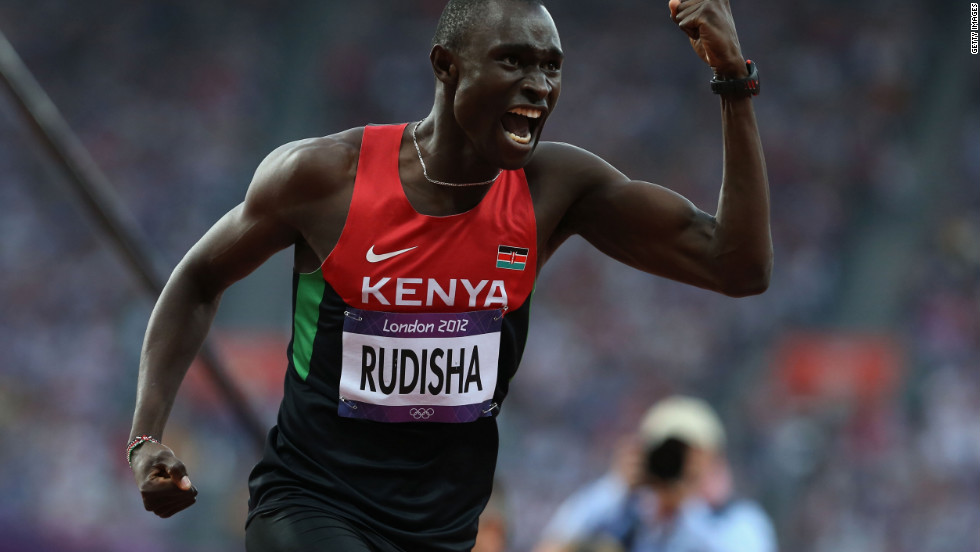 One of Kenya's most famous athletes is David Rudisha, who smashed the Men's 800m record to win gold at London 2012.