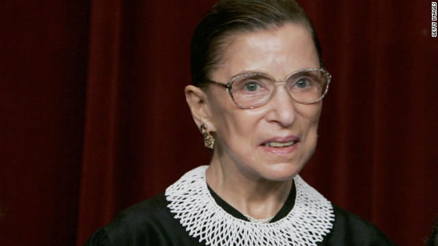 U.S. Supreme Court Justice Ruth Bader Ginsburg is recovering from a rib injury suffered in June.