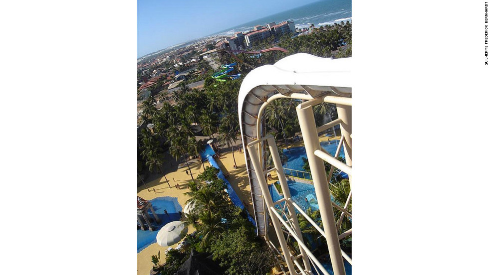 Brazil's 135-foot attraction Insano plunges at a speed of 65 mph, taking riders from start to heart-pounding finish in less than five seconds.