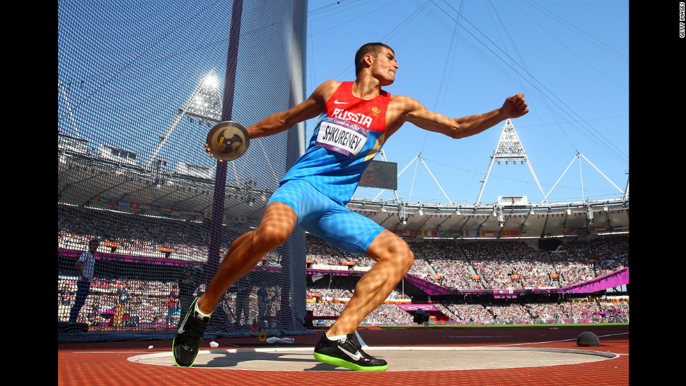 Day 13: The best photos of the Olympics Olympic Discus Thrower