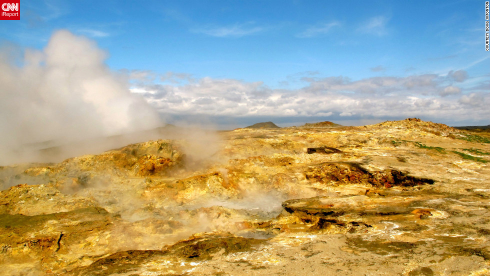 "<a href=""http://ireport.cnn.com/docs/DOC-824440"">Doug Simonton</a> has captured various photographs of Iceland's unique landscape over the past two years. ""It's hard not to see the ground boiling up steam and not think you're on another planet,"" he says."