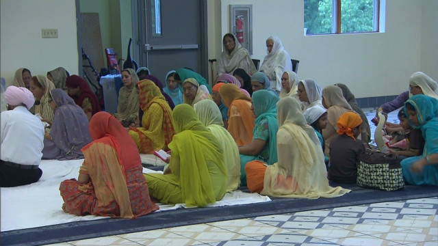 Inside the Oak Creek Sikh temple