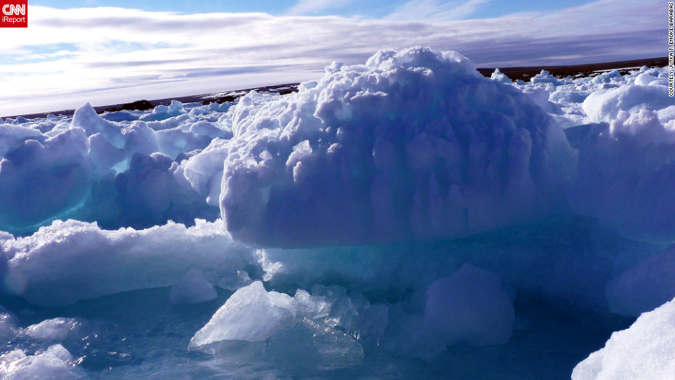 """""""It is such a great experience to see this frozen 'wonderland' of the glaciers, the snow covered ragged edged mountains, the blinding white or colorful icebergs which seem to have their very own life when a sun ray hits them,"""" writes <a href=""""http://ireport.cnn.com/docs/DOC-825804"""">Jutka T. Emoke Barabas</a>."""