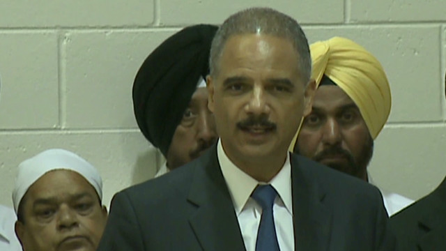 Holder: Sikh temple shooting a hate crime