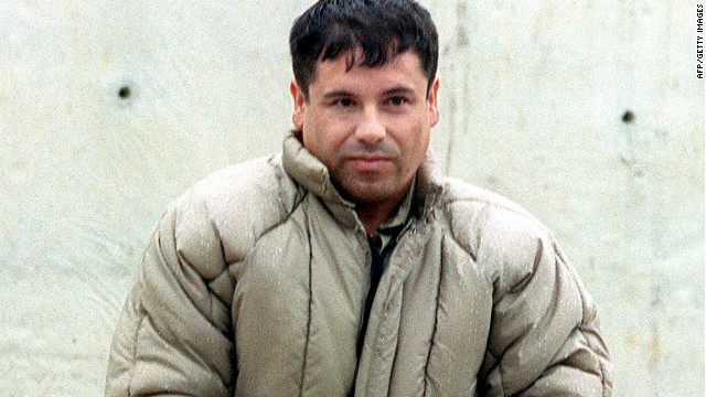 A file photo of drug trafficker Joaquin Guzman Loera 'el Chapo Guzman' at a Mexico maximum security prison before he escaped in 2001. He allegedly heads up the Sinaloa drug cartel who Spainish police say tried to establish a base in Europe.