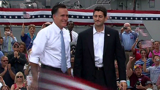 Romney introduces Paul Ryan as VP choice