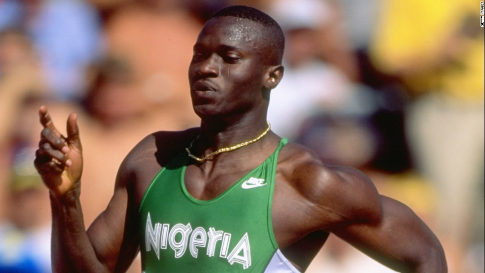 Nigerian sprinter Sunday Bada, the eldest memer of the 4x400m team that would be announced as victors of the Sydney showdown in 2012. Bada died suddenly in Lagos, aged 42, in December 2011.
