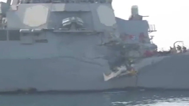 USS Porter damaged in collision