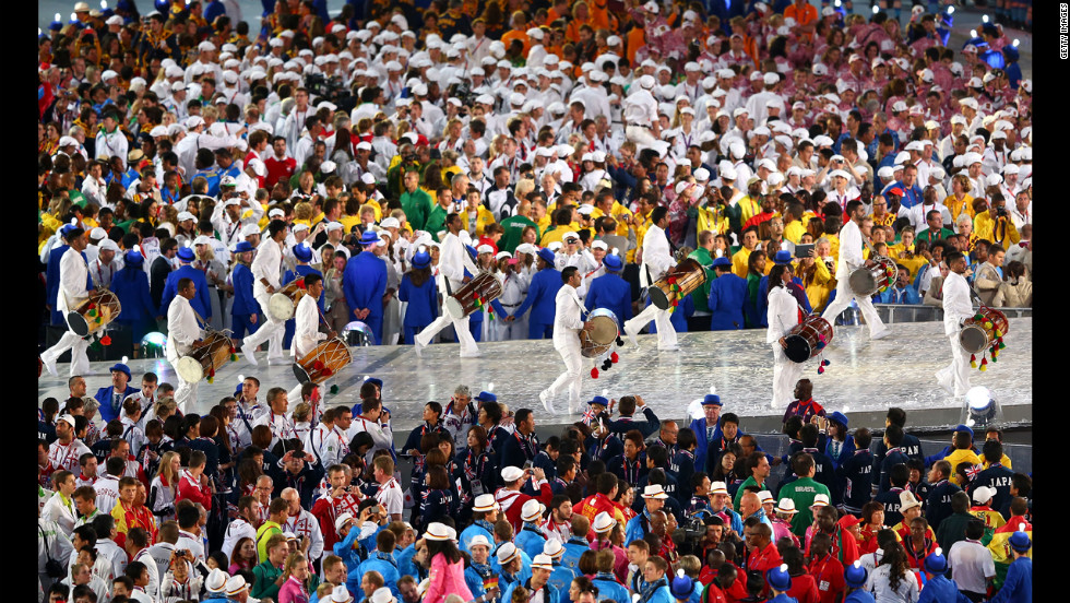 The road to Rio is celebrated during the closing ceremony.
