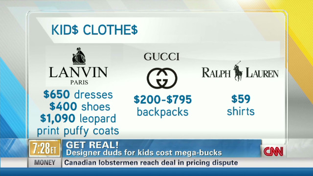 Get Real! Spending on designer kid duds?