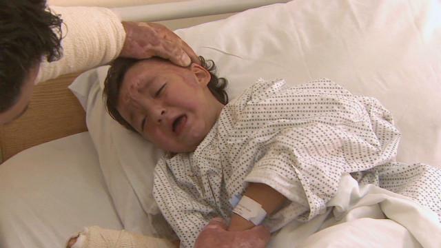 Shelling haunts Syrian family