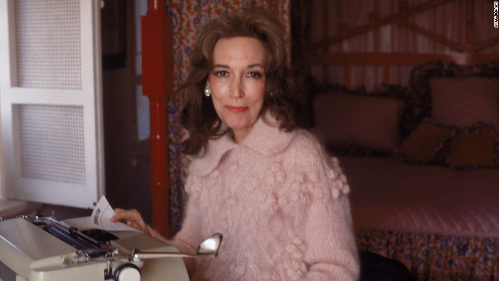 "Helen Gurley Brown in her New York apartment in 1979. The former editor-in-chief of Cosmopolitan magazine and author of ""Sex and the Single Girl"" died on Monday, August 13. She was 90."