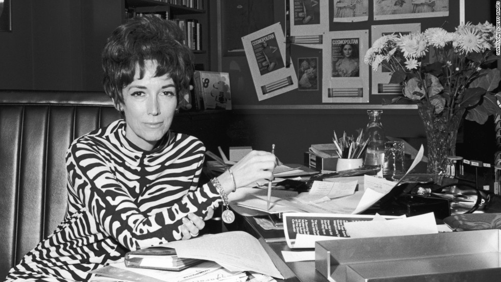 Gurley Brown in her office at Cosmopolitan in the 1960s.