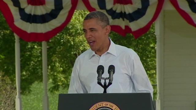 Obama jokes about Romney's dog