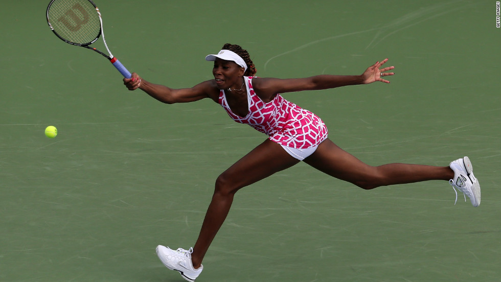 Venus also won her opening match in Cincinnati, beating Olympic semifinalist Maria Kirilenko of Russia as she kept her trademark long braids safely tied up.