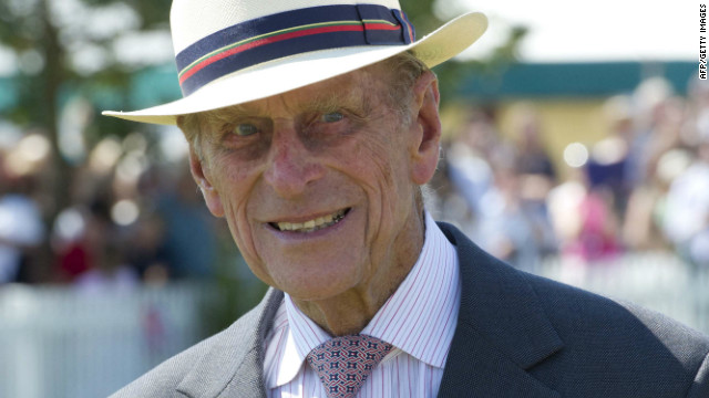 Prince Philip, Duke of Edinburgh meets locals during Queen Elizabeth II's Diamond Jubilee on July 25, 2012.