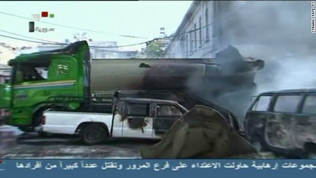 Tanker explodes near Damascus hotel