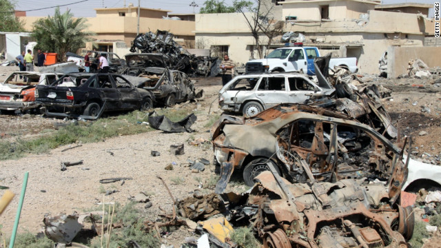 Three car bombs and two roadside bombs exploded in three separate locations in Kirkuk, killing seven people, police said.