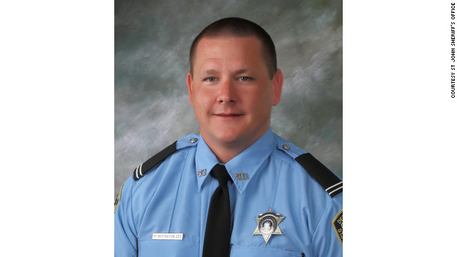 Deputy Michael Scott Boyington was shot and wounded while directing traffic early Thursday.