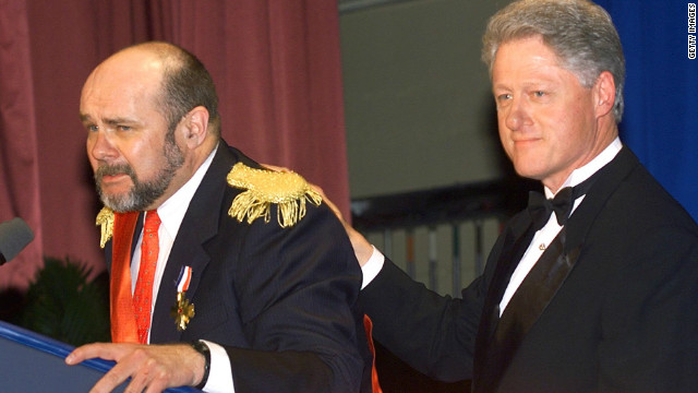 "Bill Clinton, doing a skit with a fake ""prime minister"" at a D.C. dinner, used Katz's work extensively."