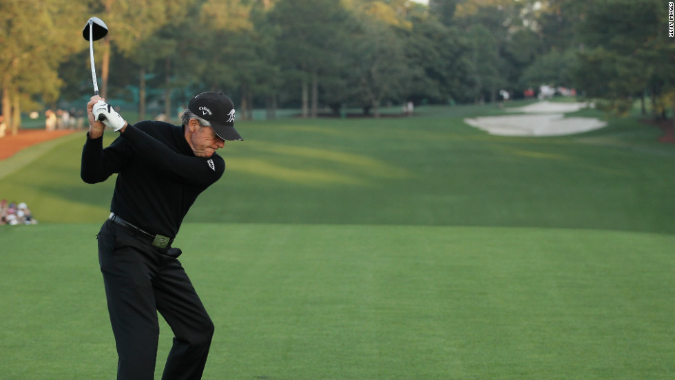 "Gary Player, who describes himself as the ""World's Most Traveled Athlete"" says he has racked up more than 15 million air miles in his career. Now aged 76, he was honorary starter at the Masters, in Augusta, April 2012."