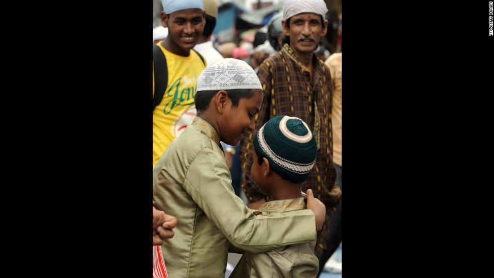 Indian Muslims offer prayers on the last Friday of Ramadan at Jama Masjid in Siliguri.