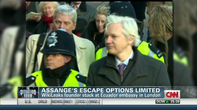Assange's escape options limited