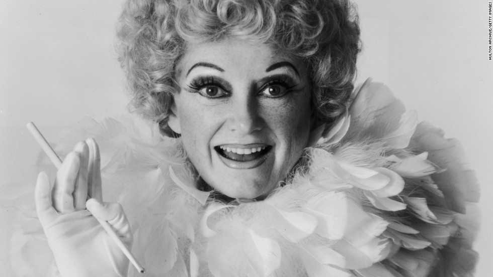 "Phyllis Diller poses for a portrait in 1981 for her book ""The Joys of Aging & How to Avoid Them."" The pioneering comedian died at her home in Los Angeles on Monday, August 20. She was 95."