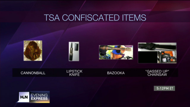 TSA confiscates cannonball, dead snakes