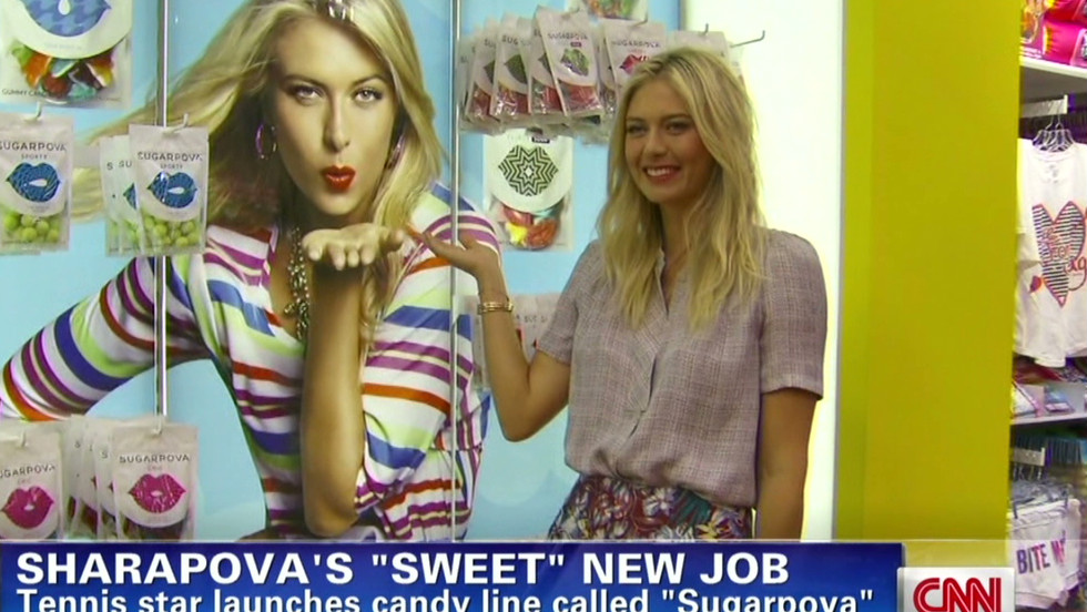 Maria Sharapova's fame has brought endorsements that saw Forbes magazine rate her as the highest-paid female athlete in the world, with annual earnings of over $18 million. She has her own clothing line and a candy called Sugarpova.