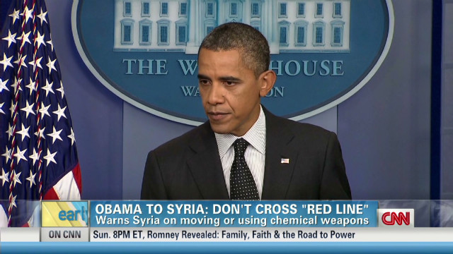 Obama warns Syria not to cross 'red line'