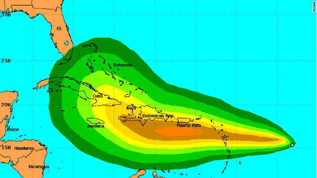Tropical Storm Isaac formed in the Atlantic Ocean and churned toward the Caribbean Sea on Tuesday afternoon, and it could become a Category 1 hurricane by Thursday, forecasters at the National Hurricane Center said.