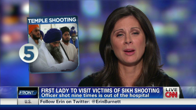 FLOTUS heads to Sikh shooting site