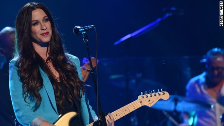 Singer Alanis Morissette performs at the MDA Show of Strength held at CBS Television City on August 9, 2012 in Los Angeles, California.
