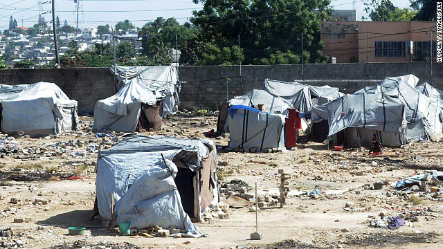 Residents devastated by the Haiti earthquake live in a tent city near Port-au-Prince.