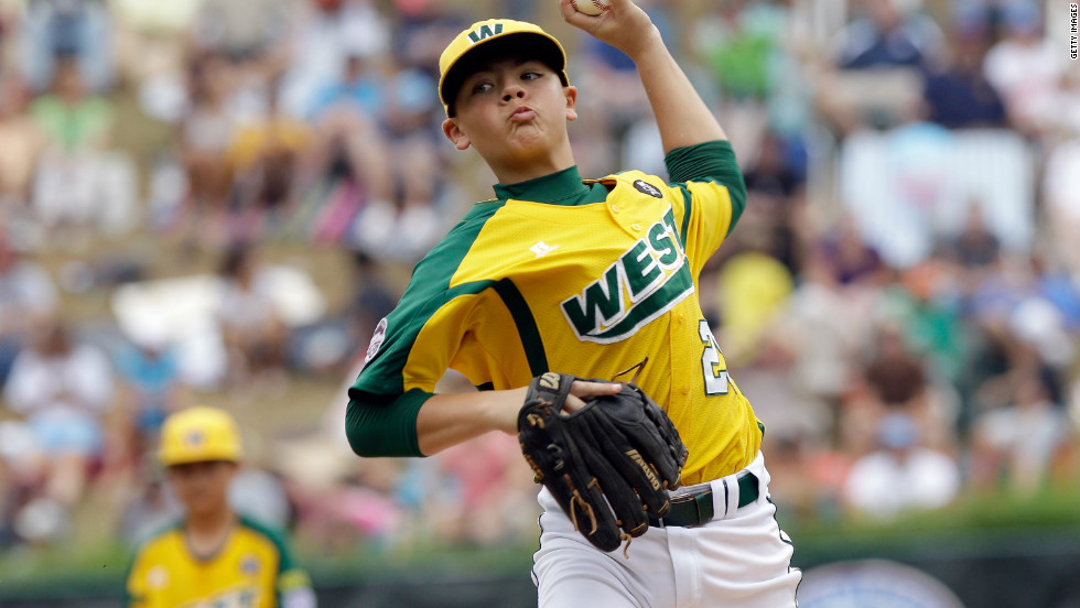 pitcher nick pratto throws for the west team from huntington beach california in the - Pitchers For Kids