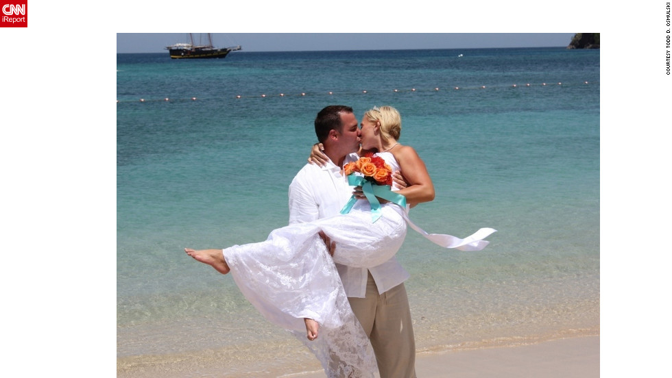"After 10 years of marriage, Todd and Jennifer Osmulski shared an amazing summer highlight together when they chose to renew their vows on the beaches of St. Lucia. ""We have been through so much. So many ups and downs, but here we are. Together still.""<a href=""http://ireport.cnn.com/docs/DOC-829771"" target=""_blank"">Find out more about their summer filled with love on Todd D. Osmulski's iReport</a>."
