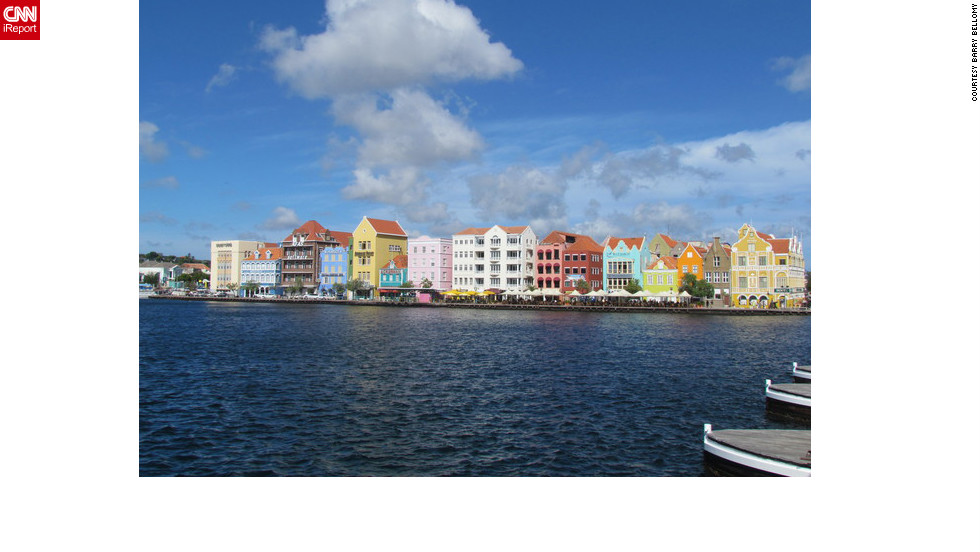 "Vactioning at one of the Caribbean's must-see islands, Barry Bellomy says he couldn't resist capturing this sight of Curacao. ""I was captivated by the beautiful colors of the buildings,"" he said.<a href=""http://ireport.cnn.com/docs/DOC-829909"">See Barry's colorful photo on his iReport</a>."