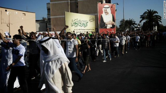 Bahraini Shiites mourn teen Hussam al-Haddad, said to have been killed by security forces, in Muharreq on August 18.