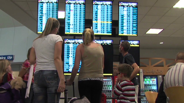 Family stuck in airport five days