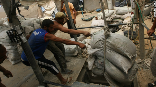 Gaza's economy relies heavily on Egyptian stability. Some goods can only be smuggled into Gaza through tunnels.
