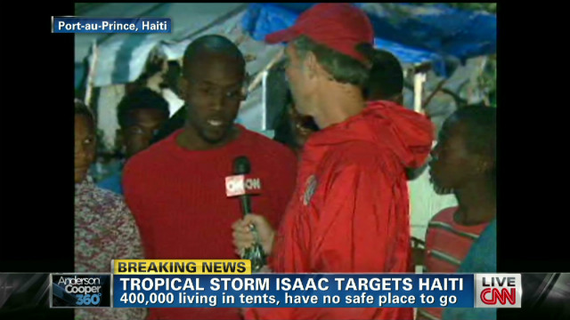 Tropical storm Isaac nears Haiti