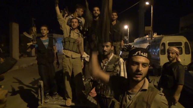 Syrian rebel convoy under attack