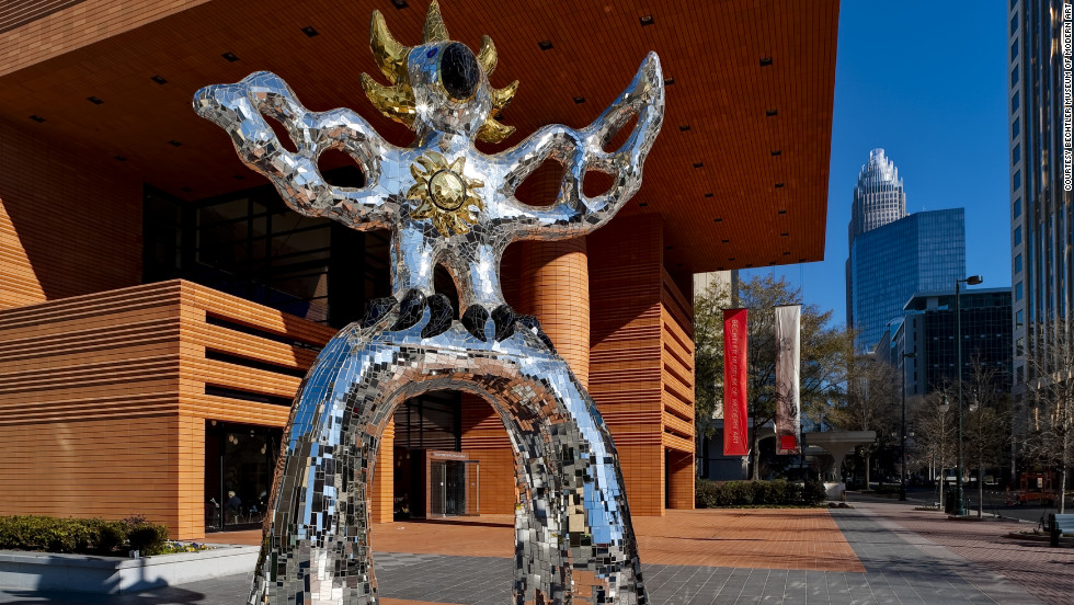 "Countless Charlotte visitors have had their photo taken with the Firebird outside the <a href=""http://www.bechtler.org/"" target=""_blank"">Bechtler Museum of Modern Art</a>. The outdoor sculpture stands 18 feet tall, and it's covered with thousands of tiles of mirrored glass."