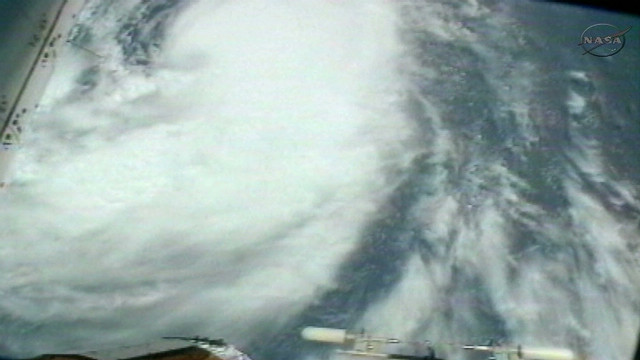 See Isaac brewing from space