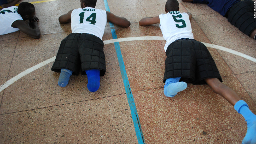 Hundreds of thousands of people were left maimed, but sport has provided an outlet for many and helped reconciliation between the two communities. Both Hutus and Tutsis are in the volleyball team.