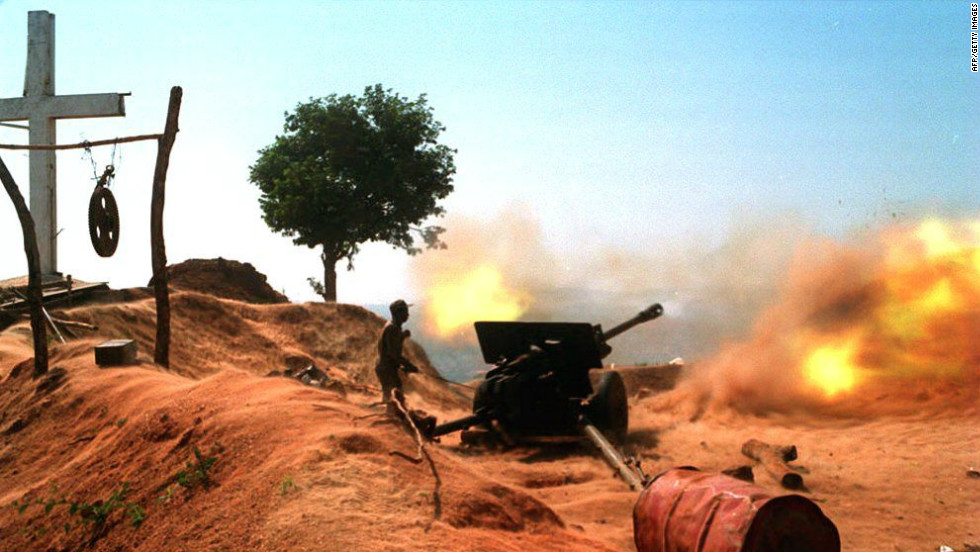Angola was gripped by a brutal civil war for 27 years that led to the death of up to half a million people, according to the U.N., and also left 15.000 landmines behind.